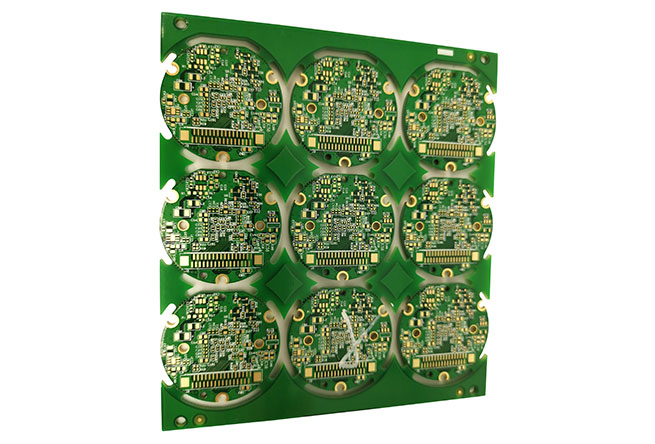 Electric circuit board assembly with green solder mask 1.6 mm